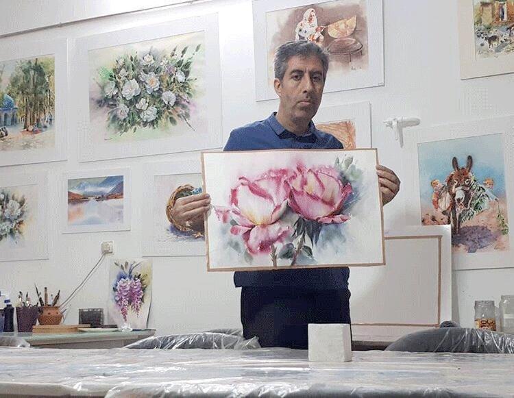 هنر تلفیق آب و رنگ