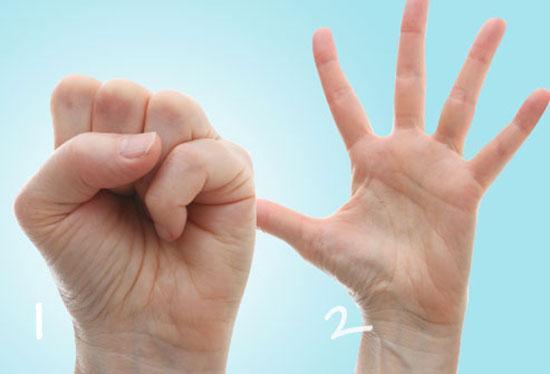 10 تمرین ورزشی برای دست ها و انگشت ها