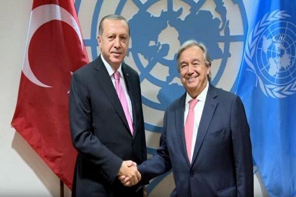 دیدار اردوغان با آنتونیو گوترش در استانبول