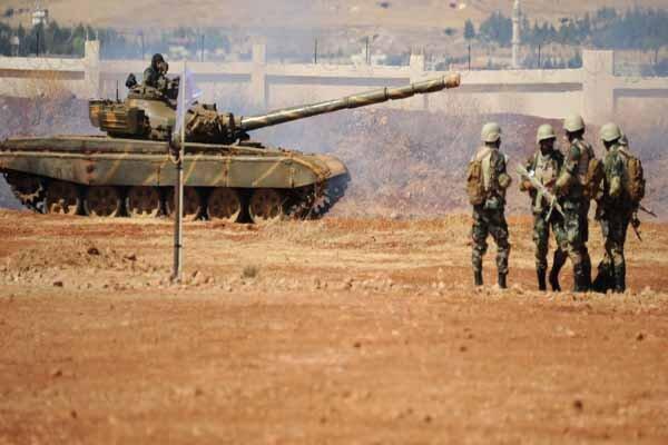 واکنش ارتش سوریه در برابر حملات ترکیه در حومه حسکه