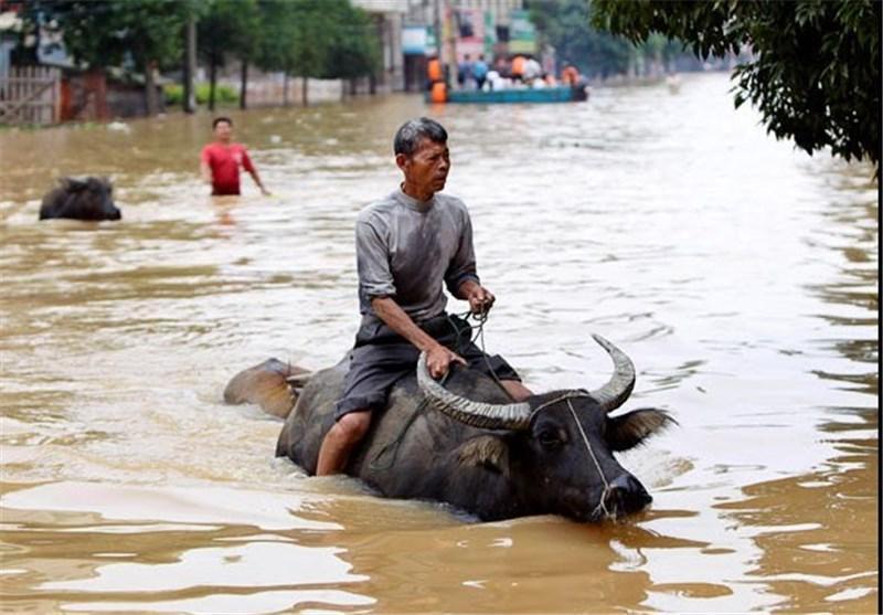 52 کشته در نتیجه جاری شدن سیل و رانش زمین در چین