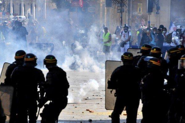 راشاتودی: درگیری جلیقه زردها با پلیس در شهر لیل فرانسه