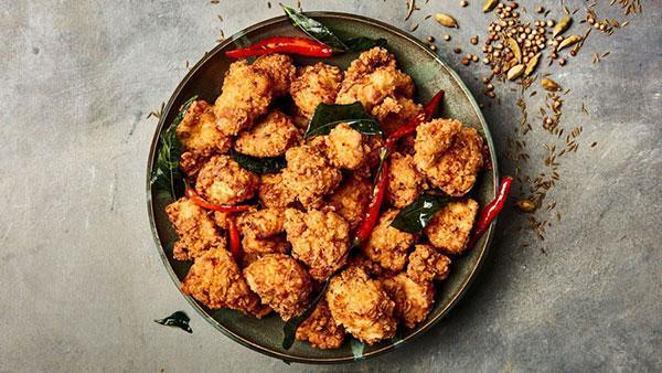 طرز تهیه مرغ پاپکورنی به همراه اطلاعات تغذیه ای