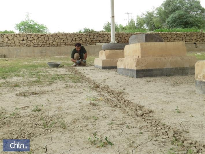 آغاز پروژه پاک سازی کاخ هخامنشی چرخاب دشتستان