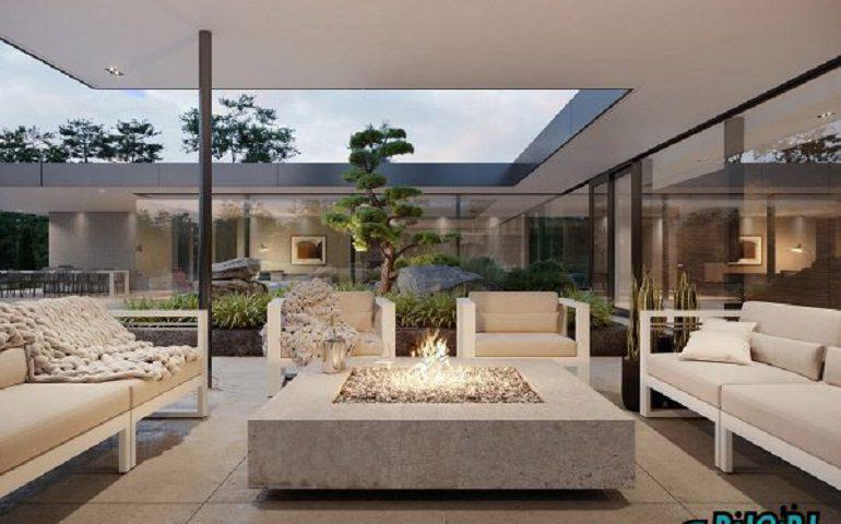 ایده های طراحی ویلای لاکچری با دیوارهای شیشه ای