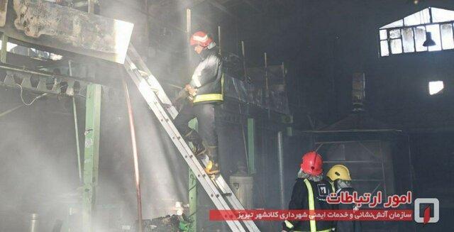 جزییات آتش سوزی کارخانه فراوری کولر در تبریز