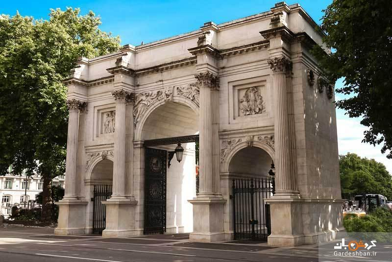 ماربل آرچ لندن، طاق مرمری سفید و دروازه ورودی کاخ باکینگهام، عکس