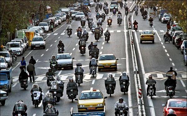 تردد موتورسیکلت ها درمحدوده بازار تهران ممنوع؛ هزینه سالانه سوخت موتورسیکت