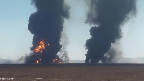 (ویدئو) آتش سوزی گسترده در گمرک مرزی افغانستان با ایران