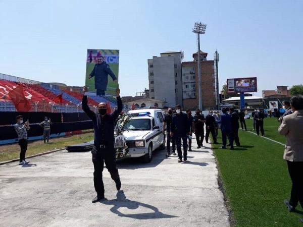 خبرنگاران پیکر مرحوم نادر دست نشان در قائمشهر به خاک سپرده شد