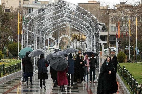 تشدید فعالیت سامانه بارشی در 6 استان ایران