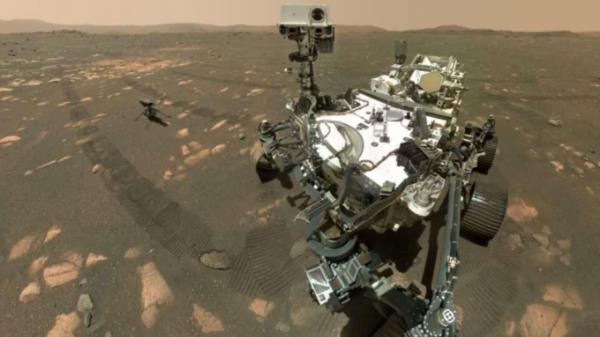 تصویری از مریخ نورد استقامت در دهانه Jezero